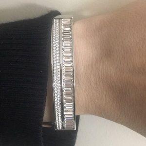 Michael KorsCrystal Hinged Bangle Bracelet
